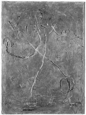 Pilger auf Erden II, 53x39 cm, 1963, Mischtechnik Öl auf Holz