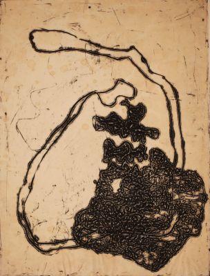Reliefzeichnung, Edition 6 of 8, 77x60 cm,1963