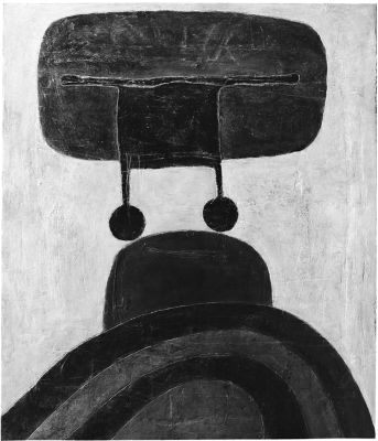 Landing III, 1965, Mischtechnik Öl auf Holz, 125x105 cm