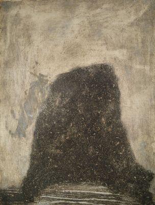 Ashoka's Doubts, 1977, Reliefdruck auf Papier, 66x49 cm