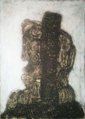 Doubts, 1977, Reliefdruck auf Papier, 67x57