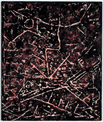 Palenque III, 1990, Mischtechnik Öl auf Holz, 83x69cm